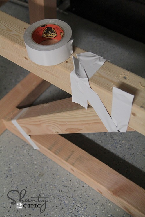 Clamp Wood with Gorilla Tape