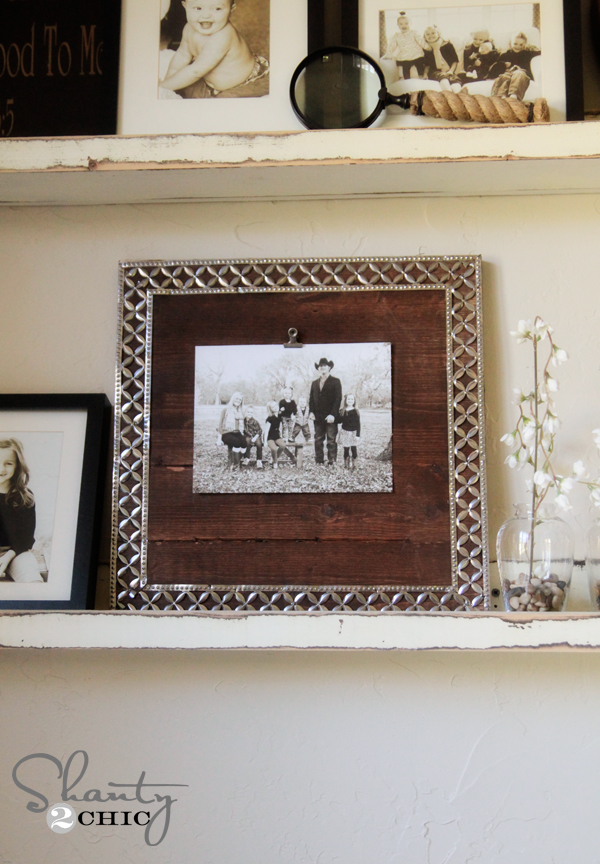 DIY Metal Ribbon Frame