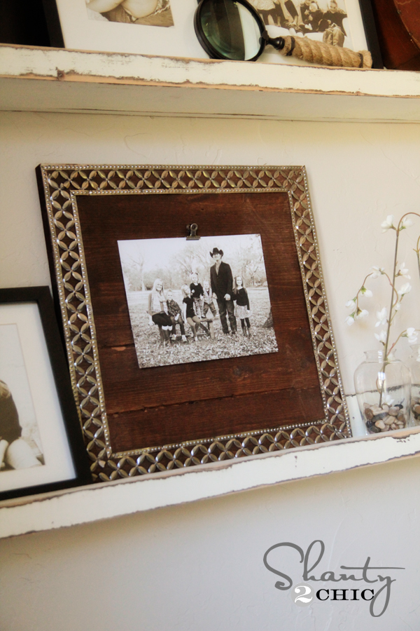 DIY Metal Ribbon Picture Frame