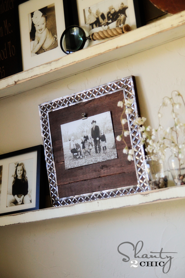 DIY Picture Frame with Metal Ribbon