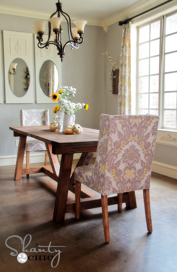 Diy restoration hardware dining table shanty 2 chic for Diy dining table