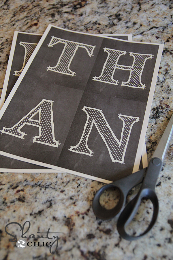 It's just a picture of Trust Printable Chalkboard Letters
