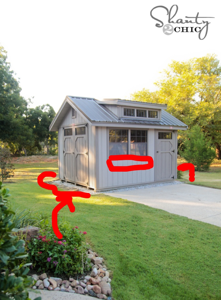 My new storage shed shanty 2 chic for Garden shed organization ideas