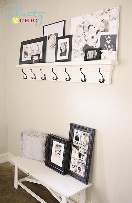 Diy Shelf With Hooks For Under 40 Shanty 2 Chic