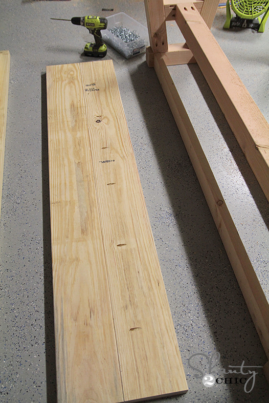 DIY Bench with Kreg Jig