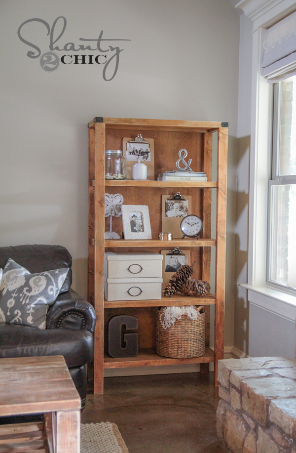 DIY Pottery Barn Inspired Bookcase - Shanty 2 Chic