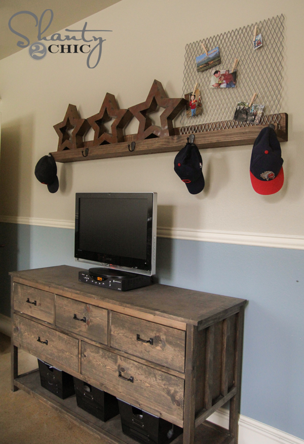 DIY Ledge with Hooks