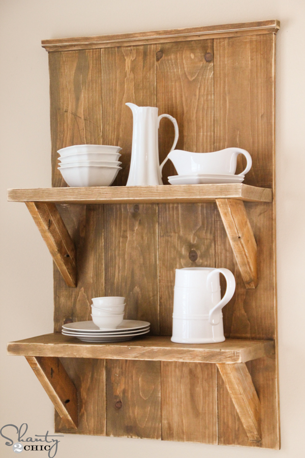 Pdf diy free wood shelves projects download simple bread for Easy diy shelves