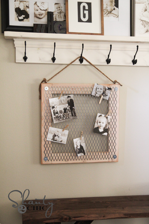 DIY Wood and Metal Memo Board