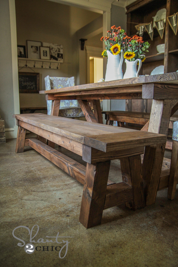 Diy 40 Bench For The Dining Table Shanty 2 Chic