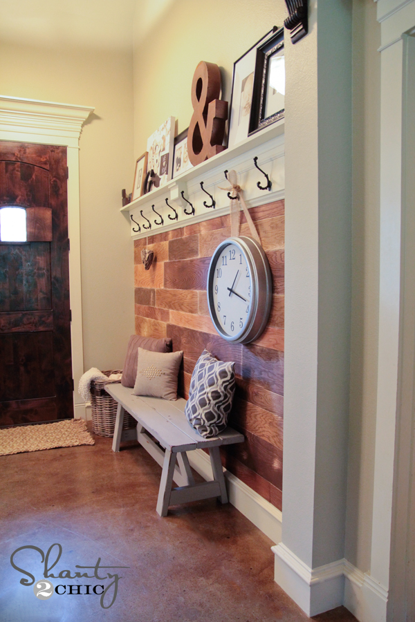 Plank Wall DIY Entryway