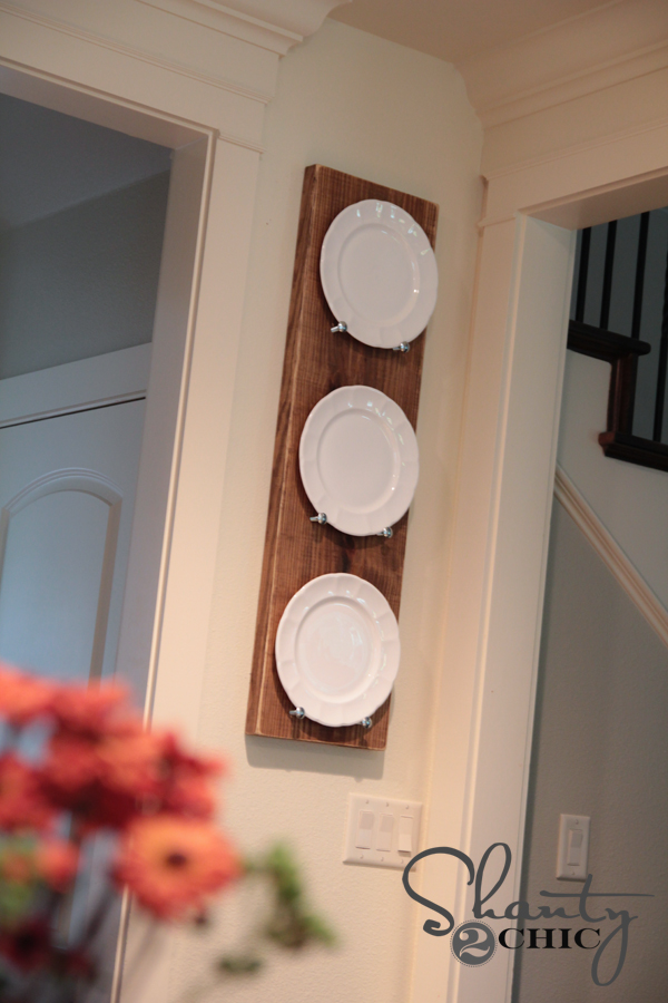 Diy Plate Rack For Under 10 Shanty 2 Chic
