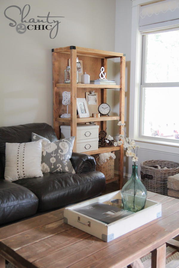 Pottery Barn Bookcase DIY