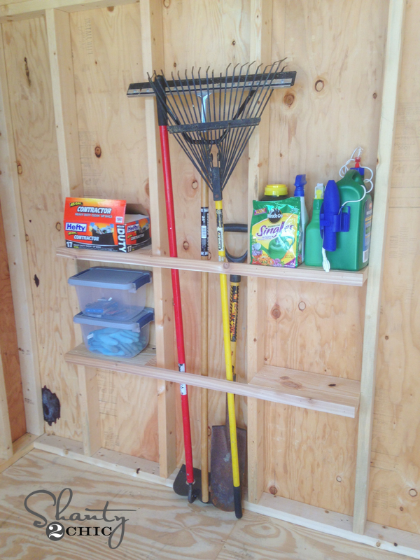 Shed organization idea shanty 2 chic for Garden shed organisation