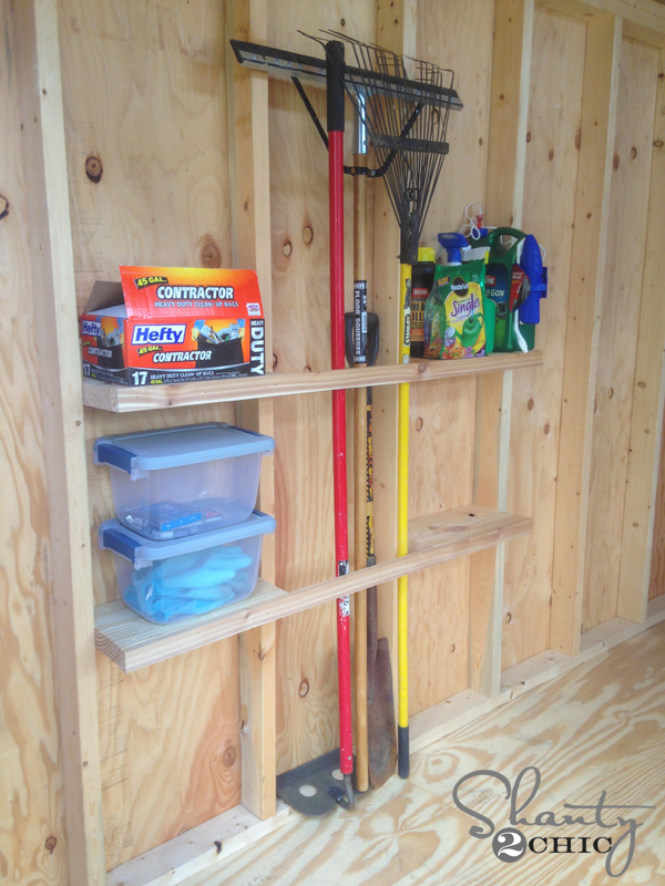 22 new storage ideas for sheds for Garden shed organization ideas