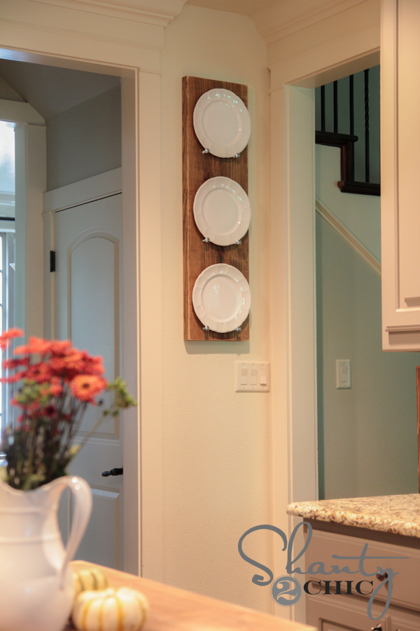 Wood Plate Rack DIY