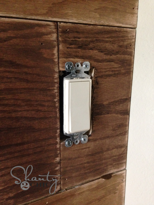 plank wall light switch