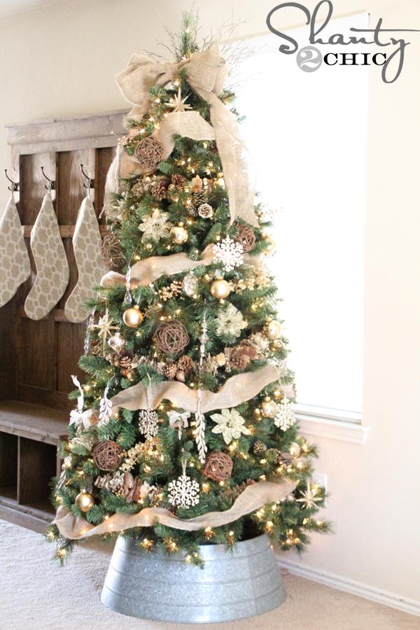 Diy Christmas Bow Tree Topper