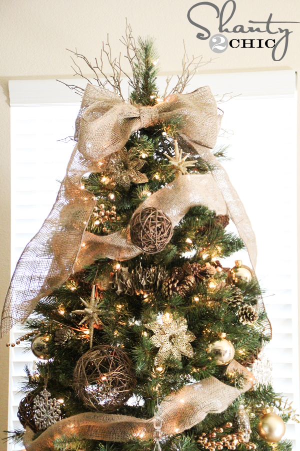 Easy DIY Tree Topper - Shanty 2 Chic