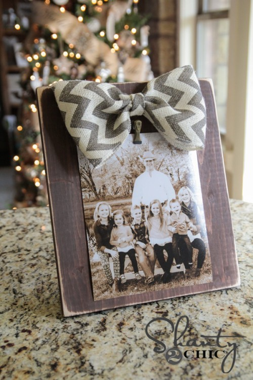 DIY Bow Photo Frame