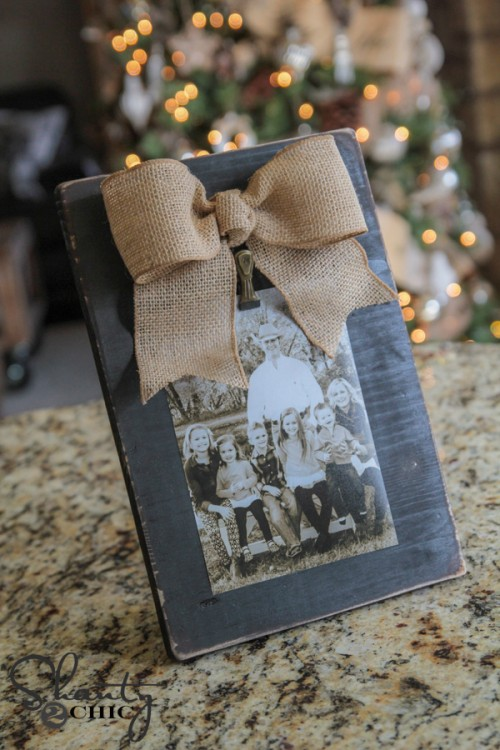3 Diy Bow Picture Frame Shanty 2 Chic