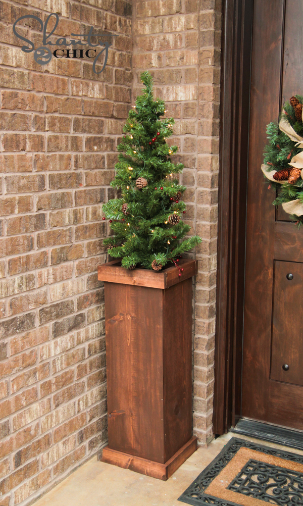 Diy christmas tree plant stand shanty chic