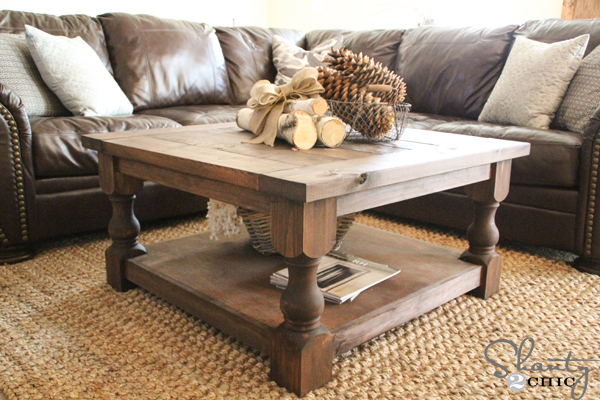 homemade coffee table plans