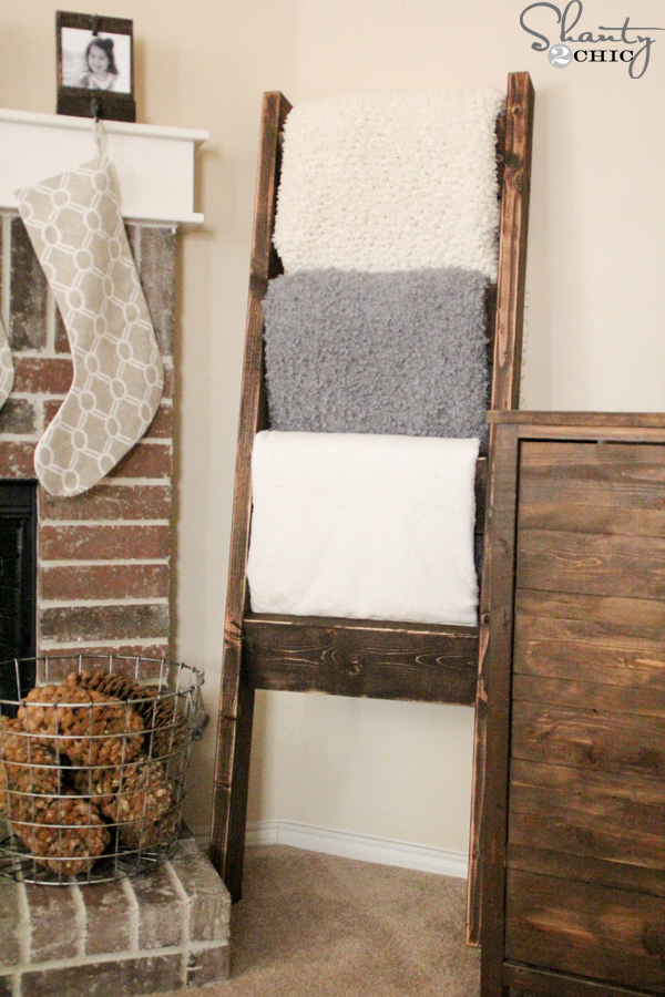Diy Blanket Ladder Just 12 For This Super Easy Wooden