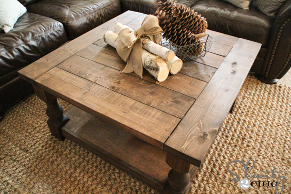 DIY Square Coffee Table - Shanty 2 Chic