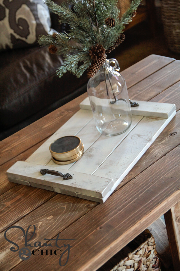 DIY $8 Wood Tray!!! - Shanty 2 Chic
