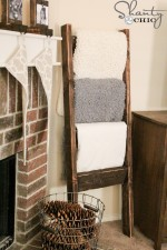 $10 Wooden Blanket Ladder