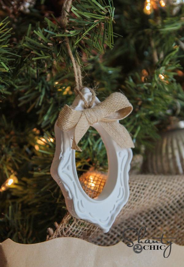 DIY $1 Frame Christmas Ornaments!!! - Shanty 2 Chic