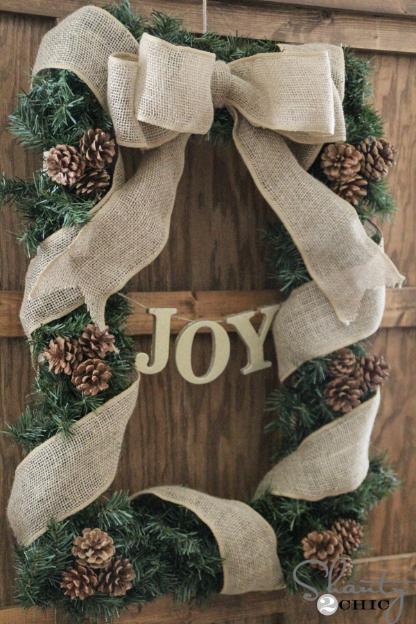 Diy Rectangle Christmas Wreath Shanty 2 Chic
