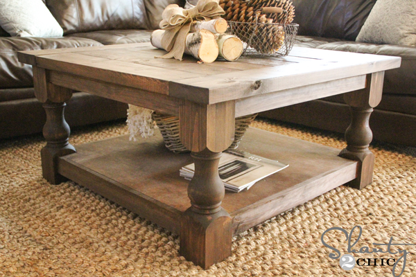 Diy square coffee table shanty 2 chic for Make your own end table