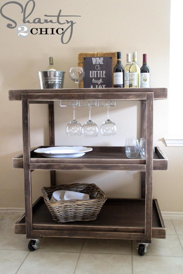 DIY Bar Cart - Shanty 2 Chic