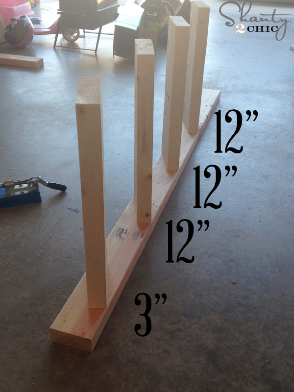 diy blanket ladder - space-boards-12-inches-apart