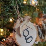 DIY Birch Initial Ornaments