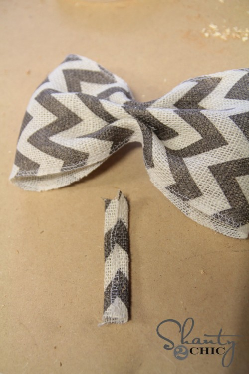 Chevron Burlap Bow Step 3