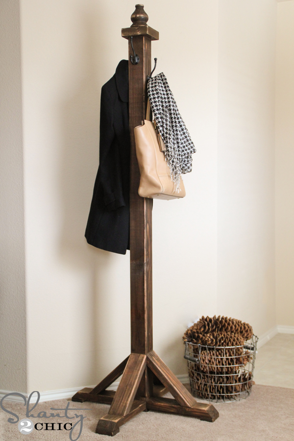 Diy coat rack shanty 2 chic for Creative ideas for coat racks