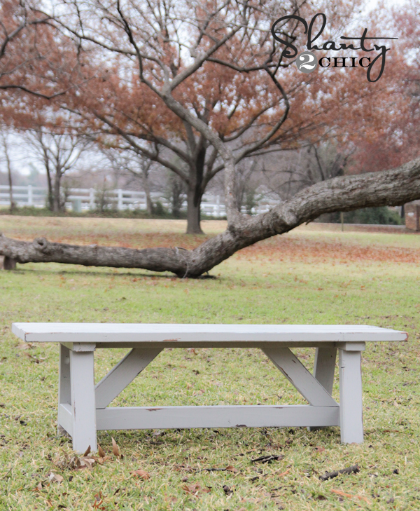DIY 15 Outdoor Bench Shanty 2 Chic