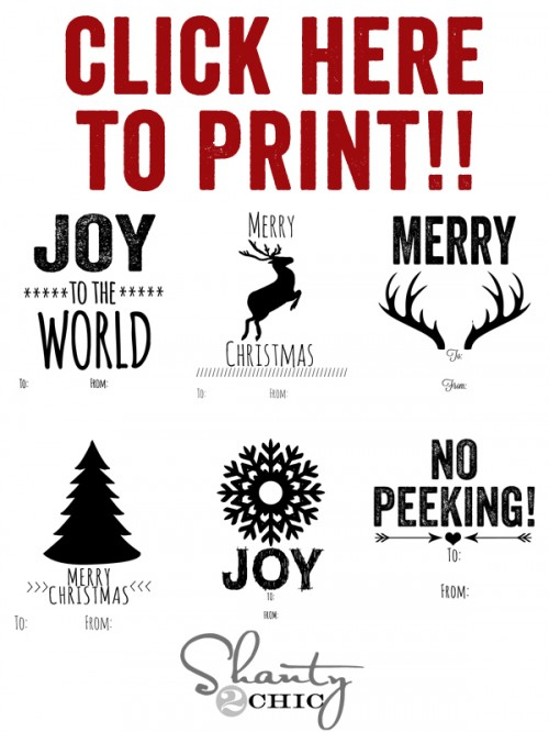 Free Printable Christmas Tags! - Shanty 2 Chic