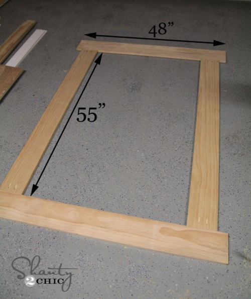 Building Frame for chalkboard