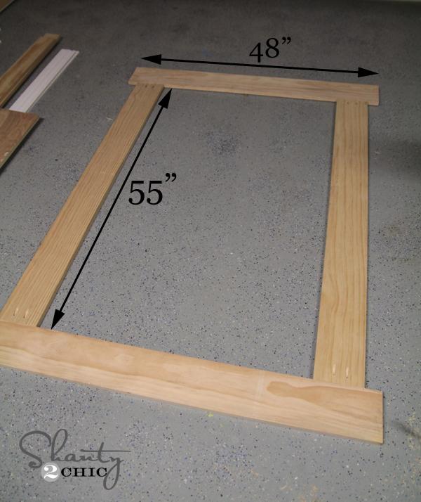 building frame for chalkboard