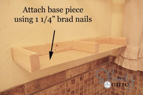 Building the floating shelf