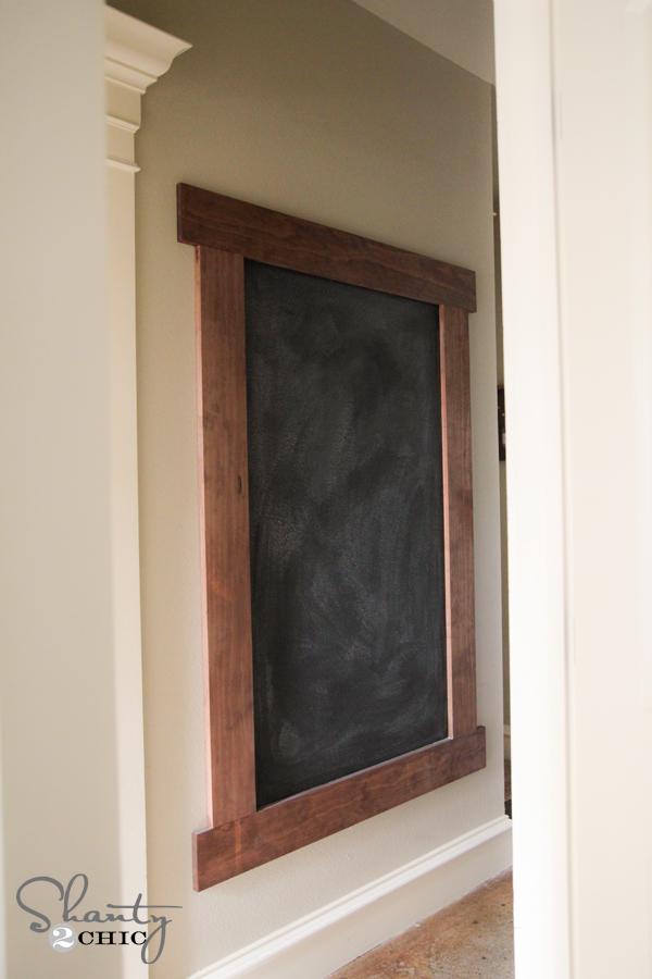 Diy Wall Decor Chalkboard : Diy framed chalkboard wall shanty chic