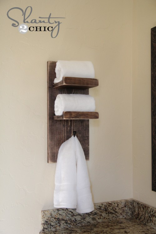 DIY Bathroom Towel Hook