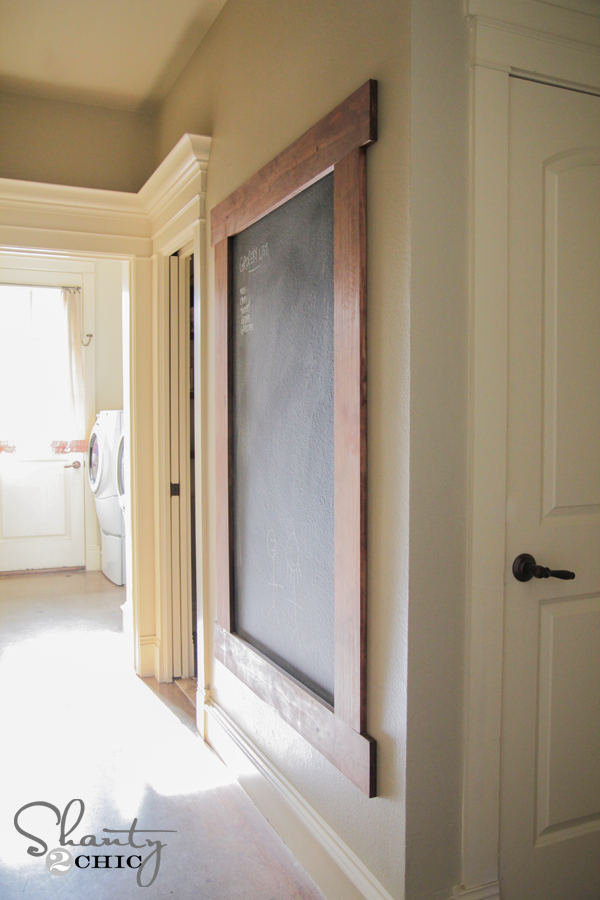 Diy Framed Chalkboard Wall Shanty 2 Chic