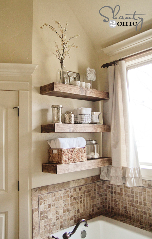 Vintage DIY Floating Shelves