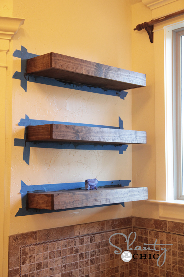Floating Bookshelves easy diy floating shelves! - shanty 2 chic
