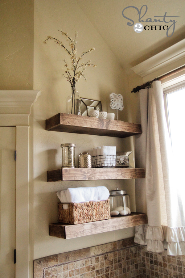 DIY Floating Shelves - Easy DIY Floating Shelves! - Shanty 2 Chic
